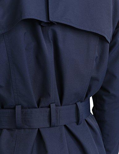James Tyler Herren Trenchcoat mit Gürtel, Navy, M - 5