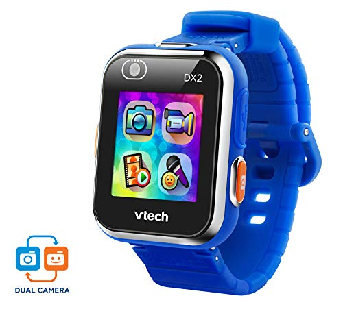VTech Kidizoom Smart Watch DX2 - Reloj inteligente para niños con doble cámara, color azul (3480-193822)