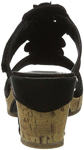 Marco Tozzi 27213, Sandales Compensées Femme Noir (noir 001)