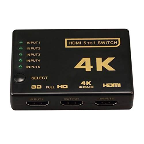 Hanpmy HDMI-Umschalter 4K 3D 3-Port HDMI-Umschalter-Verteiler Hub iR Remote HDTV 1080p