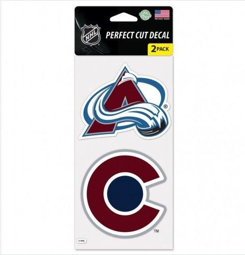 Wincraft NHL Aufkleber/Aufkleber, gestanzt, 10,2 x 20,3 cm, 2 Stück, Colorado Avalanche - Colorado Decals