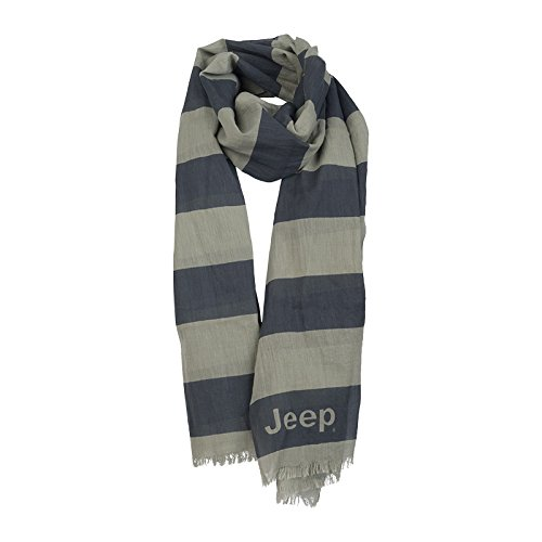 Jeep J Stripes J5S, Sciarpa Uomo, Grey Dawn/Dark Gre, Taglia Unica