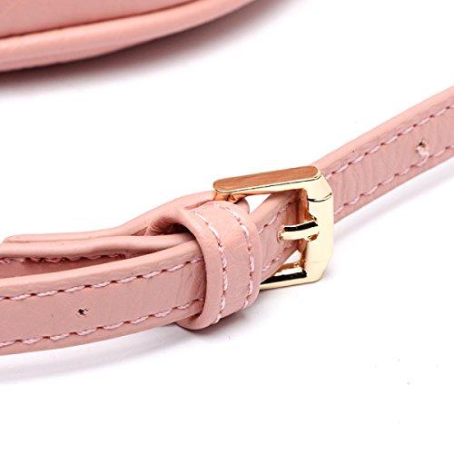 Nuovo Coreano Semplice Elegante Selvatico PU secchio Fibbia Magnetica Messenger Tessitura Braccialetto Spalla Borsa Pink