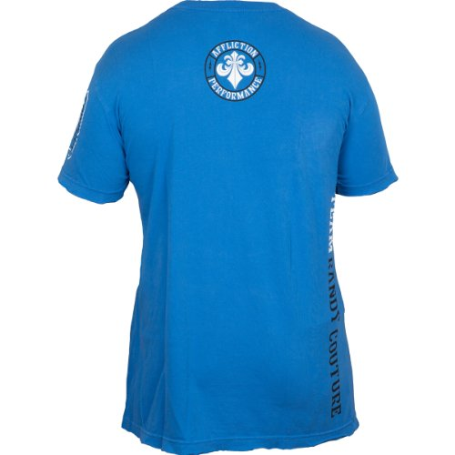 Affliction T-Shirt Team Couture Blau Blau