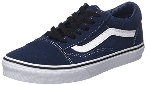 Vans Unisex-Kinder Old Skool Suede Sneaker, Blau (Suede/Dress Blues/Black), 35 EU