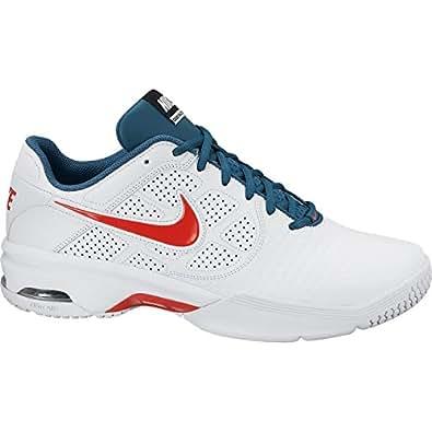 NIKE Air Courtballistec 4.1 Men's Tennis Shoes, White/Blue/Red, UK6
