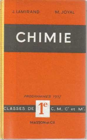 Chimie, classes de 1ere