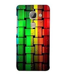 Multi Colour Weave Pattern 3D Hard Polycarbonate Designer Back Case Cover for LeEco Le 2s :: Letv 2S :: Letv 2