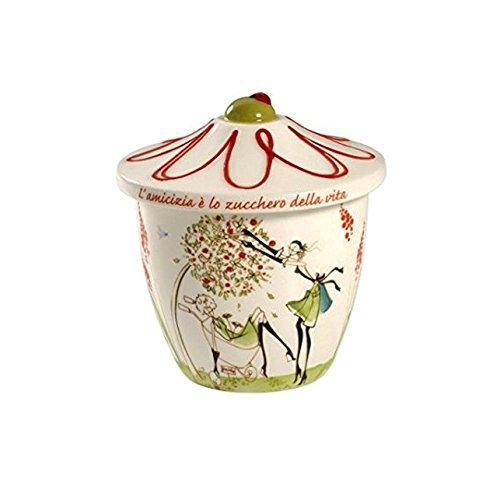 Sucrier en porcelaine rouge Regale