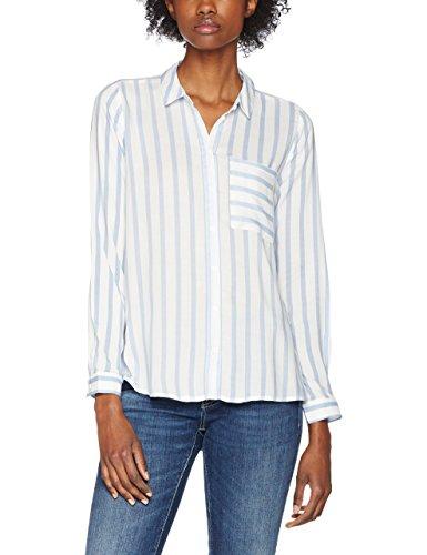 Only Onlcandy L/S Shirt Noos Wvn, Blouse Femme Multicolore (Cloud Dancer Stripes:_BLUE STRIPES)