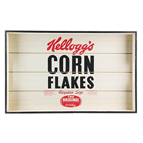 Kellogg's [Q1194] - Plateau de Service Bois 'Kellogg's' Beige Rouge (Corn Flakes)