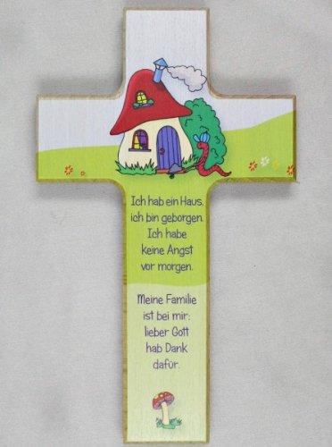 taufgeschenke direkt - Croix pour enfants, Décoration : champignon