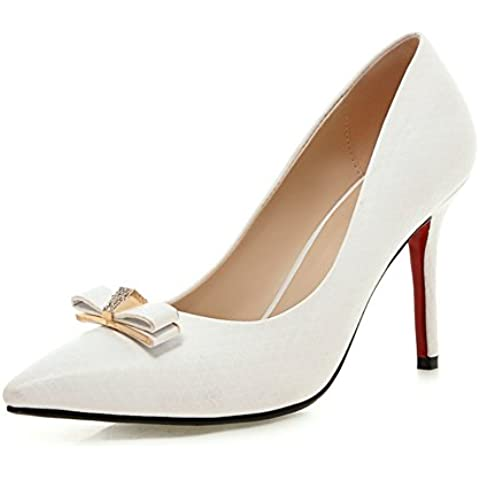 tacchi a spillo appuntiti superficiale/Bow-tie professionali scarpe eleganti