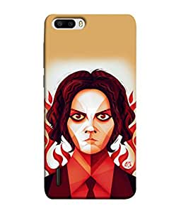 PrintVisa Angry Expression 3D Hard Polycarbonate Designer Back Case Cover for Huawei Honor 6 Plus