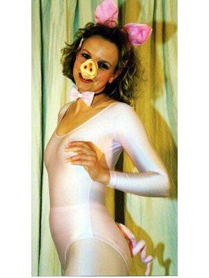 Generique - Set Schwein Erwachsene (Kostüm Piggy Miss)