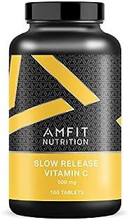 Marchio Amazon - Amfit Nutrition, Vitamina C a rilascio prolungato, 500 mg, 180 compresse