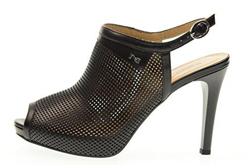 NERO GIARDINI scarpe donna sandali spuntato P717373DE/100 Nero
