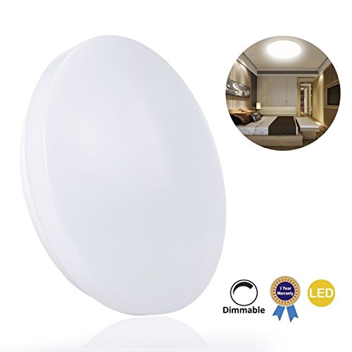 B-right LED Ceiling Light Dimmable 13-inch 15W Round Flush Mount, Nautral White(4000K), Ø30.6CM, 220V, 1200 Lumens, 160 Degree Beam Angle, 100W Incandescent Equivalent, Ceiling Lighting for Kid's Room, Living Room, Bedroom, Dining Room (Triac Dimmer not Include)
