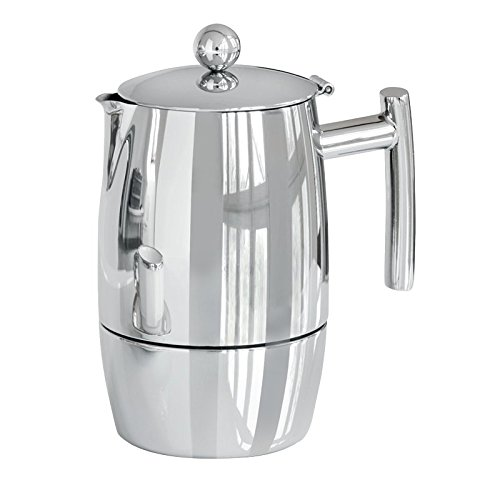 Weis Espresso Percolator Exclusiv for 6 Cups, Stainless Steel, Silver, 10 x 10 x 20 cm