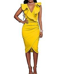 Amazon vestidos de fiesta amarillos