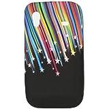 So'axess TPUSGS583032 Etui rigide en silicone pour Samsung Galaxy Ace S5830 Motif Pluie d'étoiles sur Fond Noir