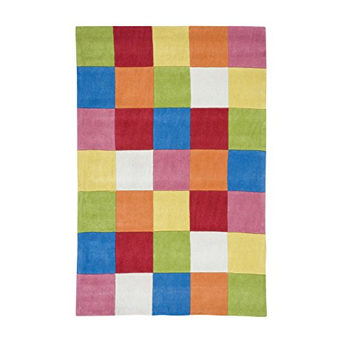 Home Life Alfombra con Diseño Damero, Acrílico, Multicolor, 120 x 180 cm
