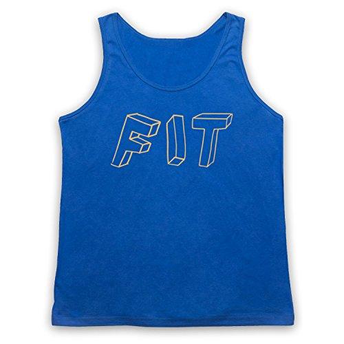 Fit Hipster Tank-Top Weste Blau