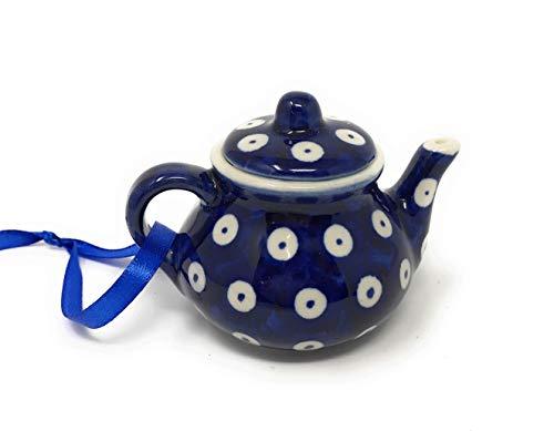 Pottery Polnische Keramik Handbemalt Pfau Teekanne Ornament Pfau Keramik