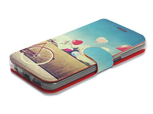 MOBIWEAR Book Style Handy Motiv Tasche Flip Case Cover Hülle für LG X Power2 - M133P