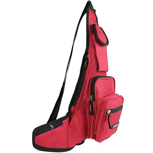 Bauchtasche Gürteltasche schwarz Bag Tasche Hüfttasche T005-T007 (T006 Grau) T006 Rot