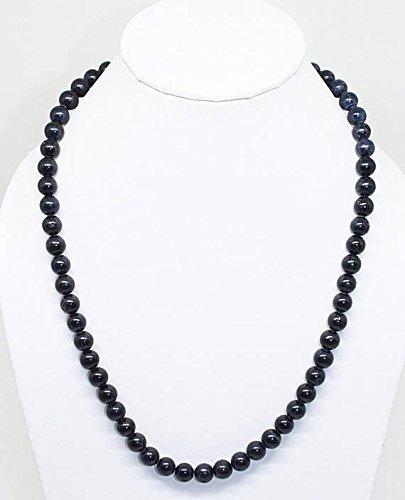 Collana di gemma di pietra blu zaffiro liscio perfetto perle naturali di alta qualità 305carati 45,7cm 8mm/blu zaffiro liscio tondo,