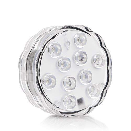 2 Stück Unterwasser Licht, Multi Farbwechsel Wasserdichte LED Leuchten Drahtlos Tauch-LED-Leuchten für Vasenbasis, Aquarium, Teich, Halloween, Party, Weihnachten, Dekoration (7 pcs Licht 2.8