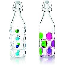 IBILI 740111 Botella Decorado Vidrio Transparente 1 L 8 ...