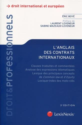 L'anglais des contrats internationaux