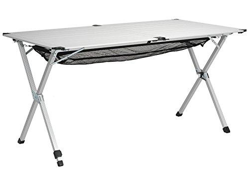 Tavolo Campeggio Alluminio Avvolgibile.Tavolo Da Campeggio 140x70x70 Alzata Avvolgibile Regolabile In