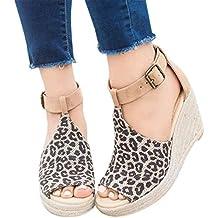 2019 Zapatos Peep-Toe Mujer, Sandalias De Talla Grande Con Plataforma Cuña Alpargatas Sandalias