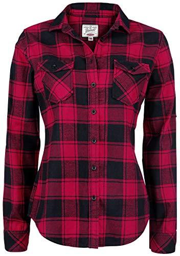 Brandit Amy Flanell Checkshirt Girl-Hemd schwarz/rot - L
