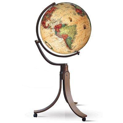 Nova Rico 50 cm Emily Floor Pedestal Antique Globe (Brown)