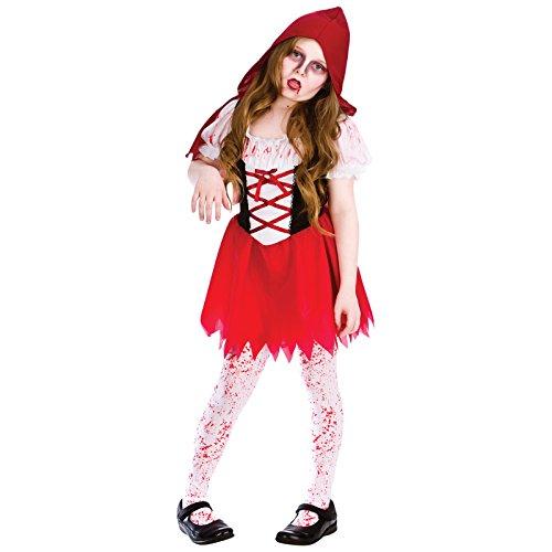 LiL Zombie Riding Hood (5-7) - Lil Red Riding Hood Kostüm