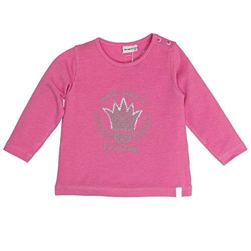 SALT AND PEPPER Baby-Mädchen Langarmshirt B Longsleeve Princess Print, Pink (Fuchsia Melange 839), 86