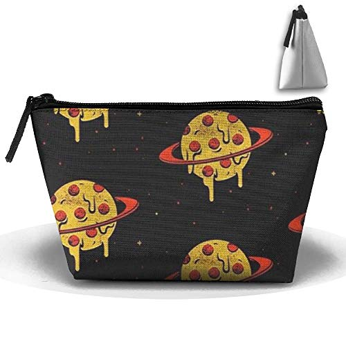 Portable Makeup Bag Organizer Travel Magic 3D Printing Planet Pizza Cosmetic Bags Brush Storage Pouch for Women Purse travel Makeup Bag -