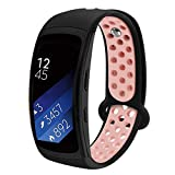 Aresh kompatibel Samsung Gear Fit 2/Fit 2 Pro Uhrenarmband,Weiche Silikon Sport Ersatz Armband kompatibel Samsung Gear Fit 2/Fit 2 Pro Smartwatch(Schwarzpulver)