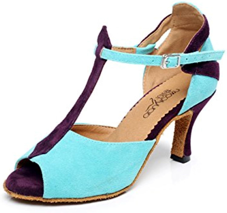 la sauce latine jChaussure jChaussure jChaussure  femmes sexy des sandales chaussures de danse ballroom latin jazz tango partie chaussures à talons, Bleu -heeled8.5cm-uk6...b078w7tds4 parent | Matériaux De Grande Qualité  0c7c8f