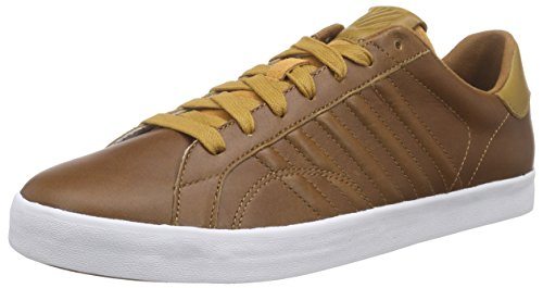 K-SwissBELMONT P - Scarpe da Ginnastica Basse Uomo , Marrone (Braun (Brown/Golden Brown/White 299)), 42