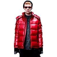 Red Cappotto colore Soprabito Acvxz Cerniera Uomo Lungo Con Invernale Cappuccio E Da WPvavp1nq