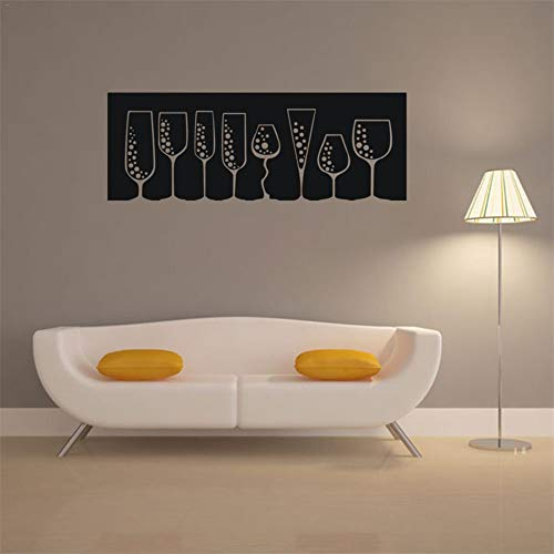 Wandaufkleber Spiegel Leeres Glas Muster Wandaufkleber Bar Dekoration Wandaufkleber Weinglas Typ Wandaufkleber Steuern Dekor Für Geschenke 21X58 cm