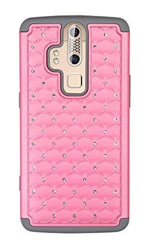 Asmyna, der Fall für zte-axon-Retail Verpackung-Pearl Pink/Grau