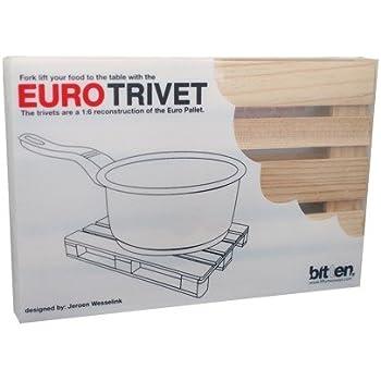 Bitten Euro Trivet dessous-de-plat, bois, marron