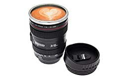 An inventive way to enjoy your morning coffee, this Camera Lens Cup is the perfect gift for any photography nut. Essentially it's a Canon EF 24-105mm camera lens hollowed out and lined with plastic, ready for a steaming cup of tea. Drink at your desk...