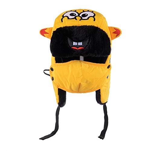 -Mütze Bomberhüte Winter Plus Samt Dicke Winddichte Kopfhörer Hut Lei Feng Hut Pilot Hut,Children's-Yellow ()